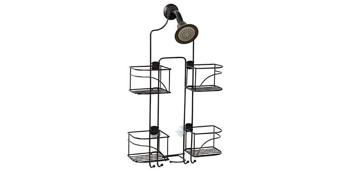 Zenna Home E7446HB, Expandable Over-The-Showerhead Caddy